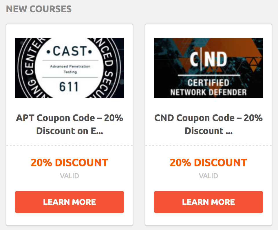 APT Coupon and CND Coupon