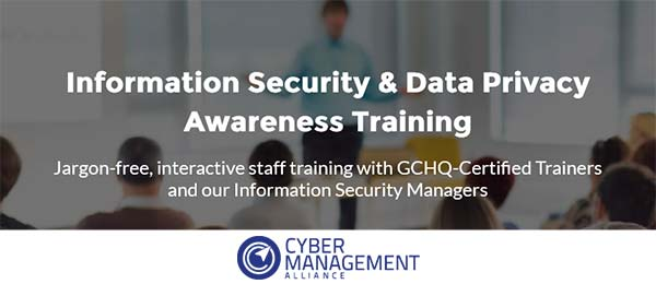 CM Alliance information security and data privacy awareness training